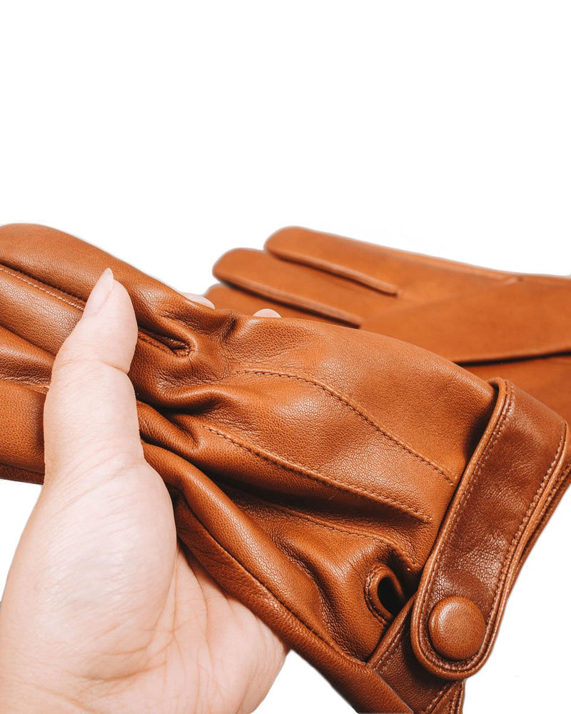 Leather Gloves - Charles - Alexandre León | brown