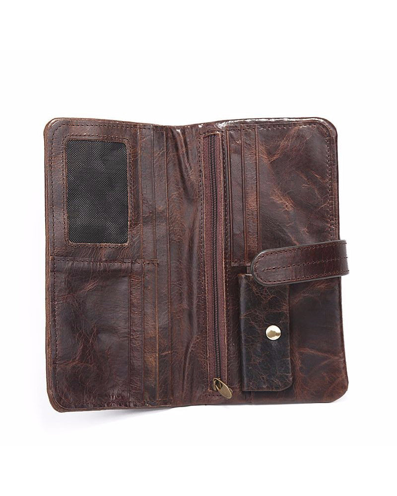 Leather Wallet - Alexis [Brown]