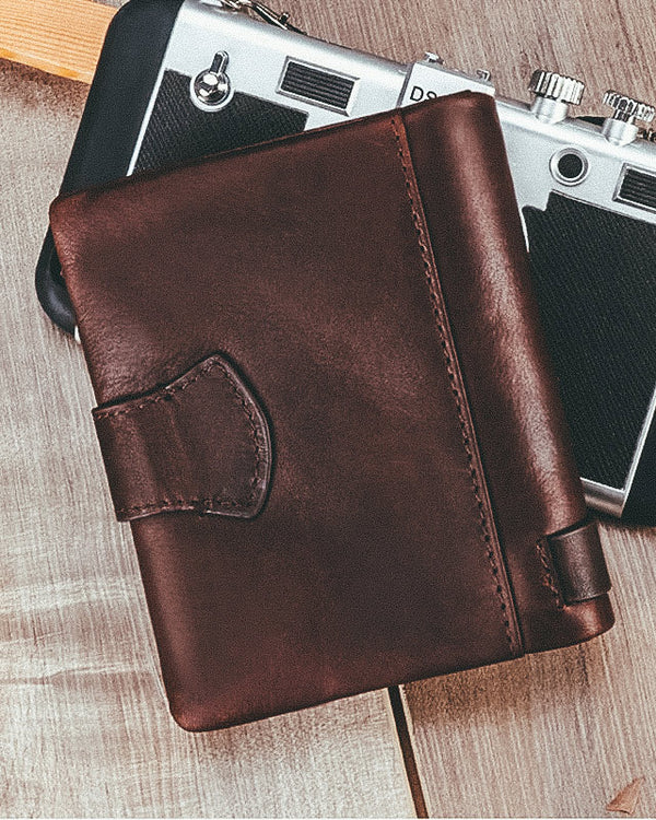 Leather Wallet - Baptiste [Brown]
