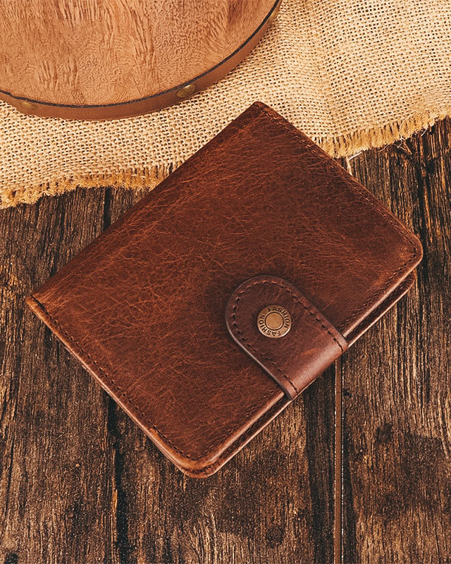 Leather Wallet - Edgar [Coffee Brown]