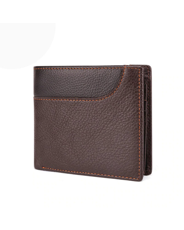 Leather Wallet - Jean [Coffee Brown]