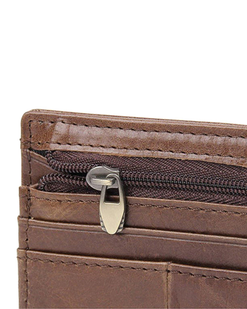 Leather Wallet - Marius [Brown]