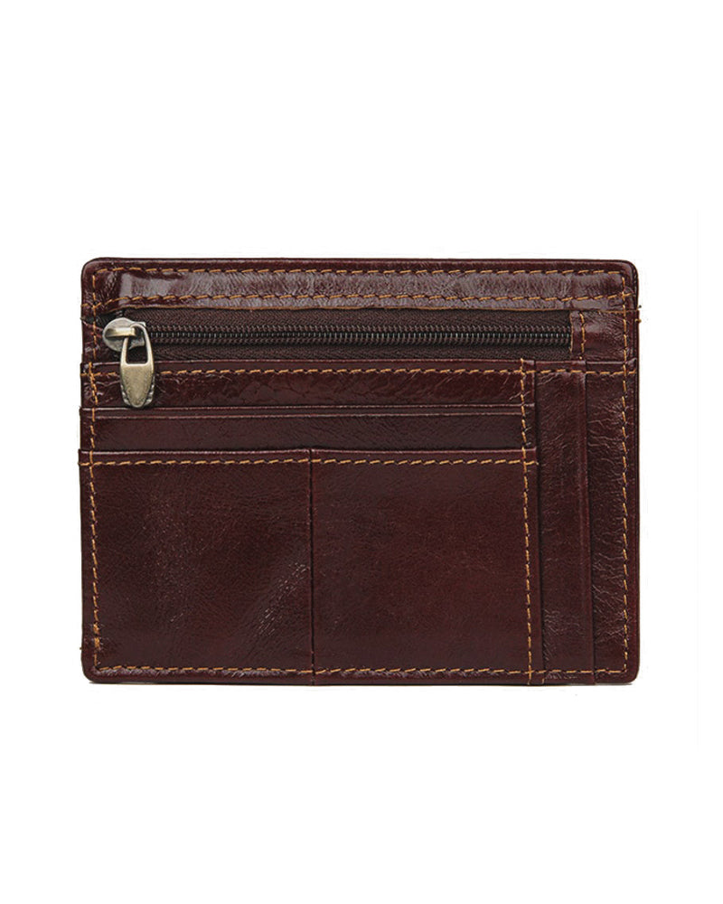 Leather Wallet - Marius [Coffee Brown]