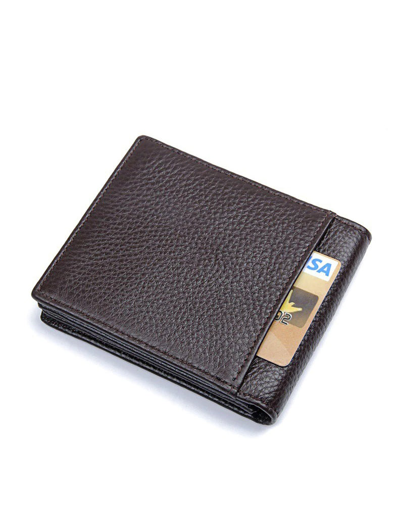 Leather Wallet - Mathis [Coffee Brown]