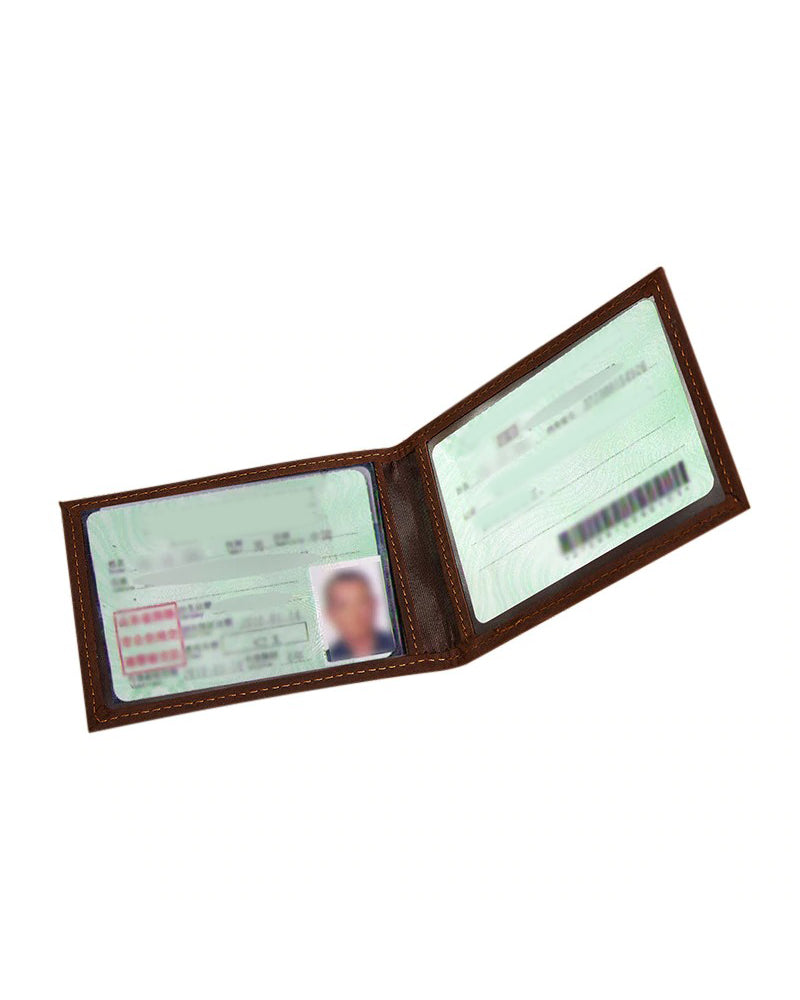 Leather ID Holder - Mehdi [Coffee Brown]