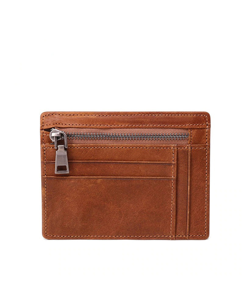 Leather Wallet - Theodore [Brown]