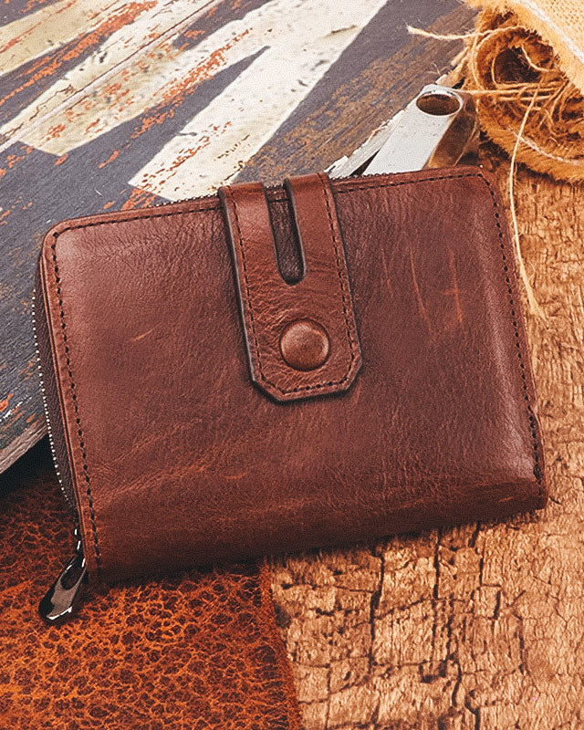 Leather Wallet - Valentin [Brown]