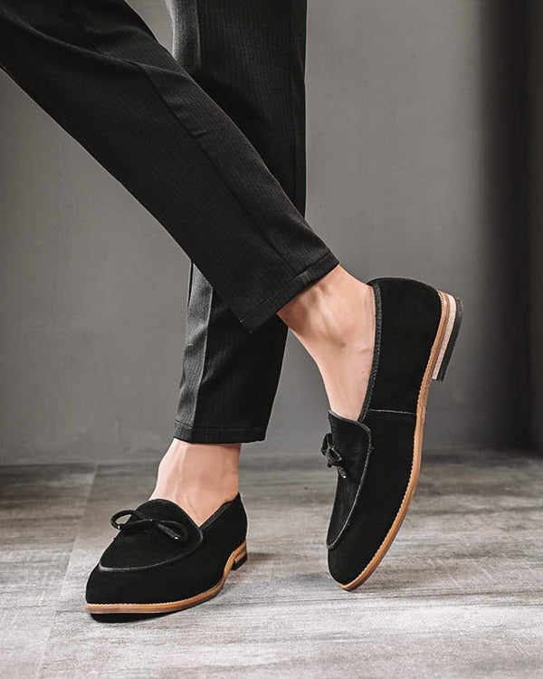Leather Tassel Loafer Shoes - Roper - Alexandre León | black