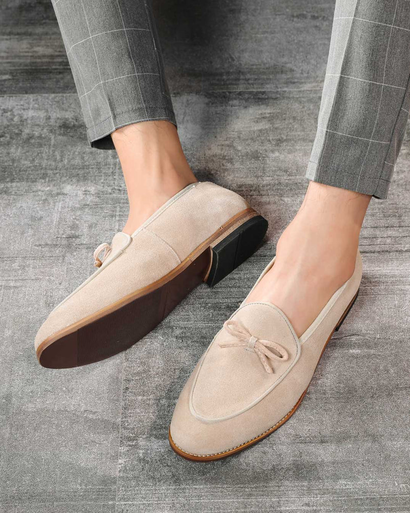 mens-Leather Tassel Loafer Shoes - Roper [Tan] - Alexandre León