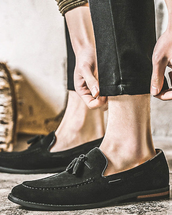 Leather Tassel Loafer Shoes - Shane - Alexandre León | black