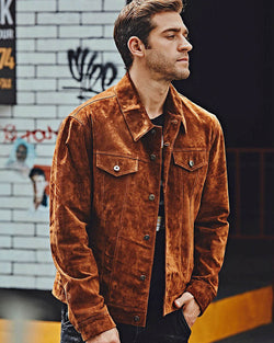 Leather Field Jacket - Andres [Brown] - Alexandre León