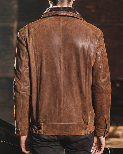 Leather Jacket - Ian [Brown] - Alexandre León