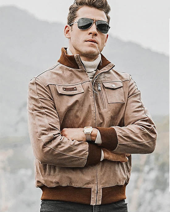 Leather Jacket - Vincenzo [Tan] - Alexandre León