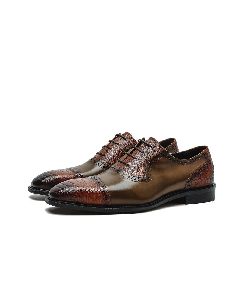 mens-Leather Oxford Shoes - Carl - Alexandre León | spectator-green