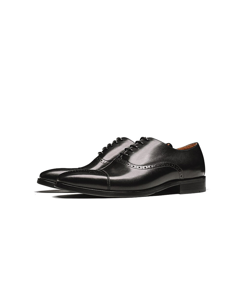 Leather Oxford Shoes - Jacob [Black]