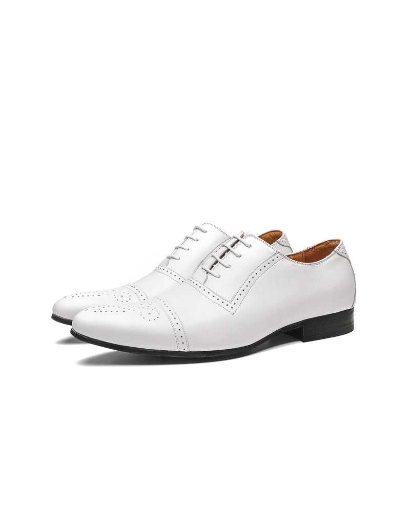 Leather Oxford Shoes - Jeremy [Spectator White]