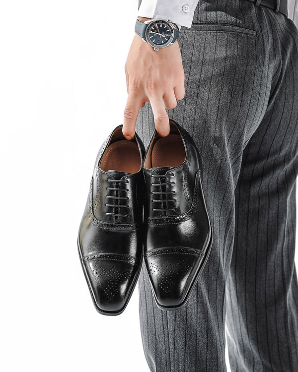 mens-Leather Oxford Shoes - Keith - Alexandre León | black