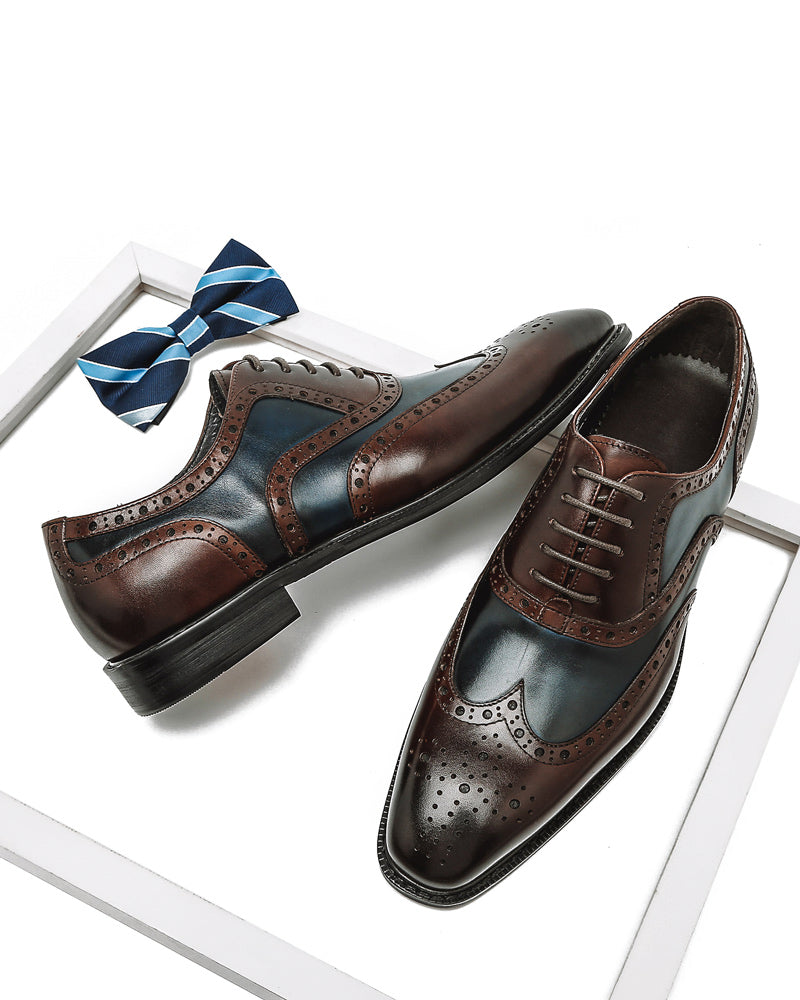 Leather Oxford Shoes - Kyle [Spectator Blue]