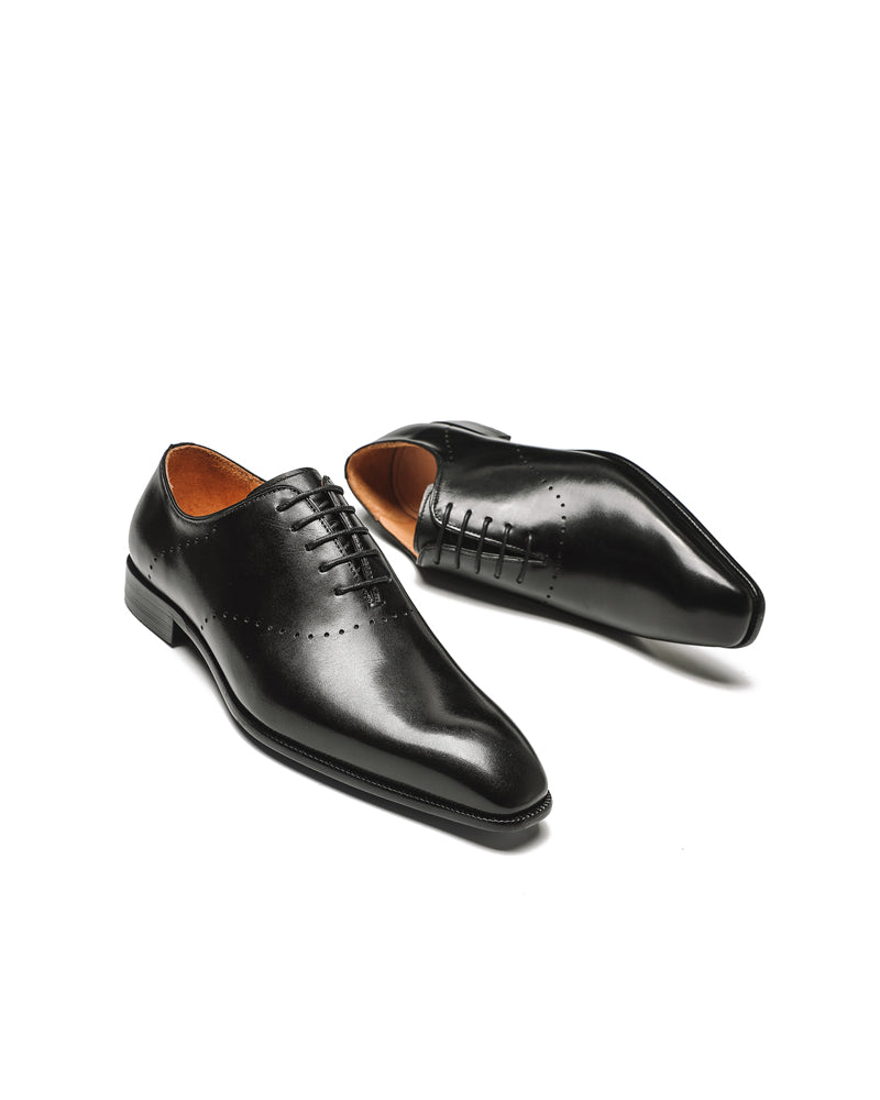 mens-Leather Oxford Shoes - Roger - Alexandre León | black