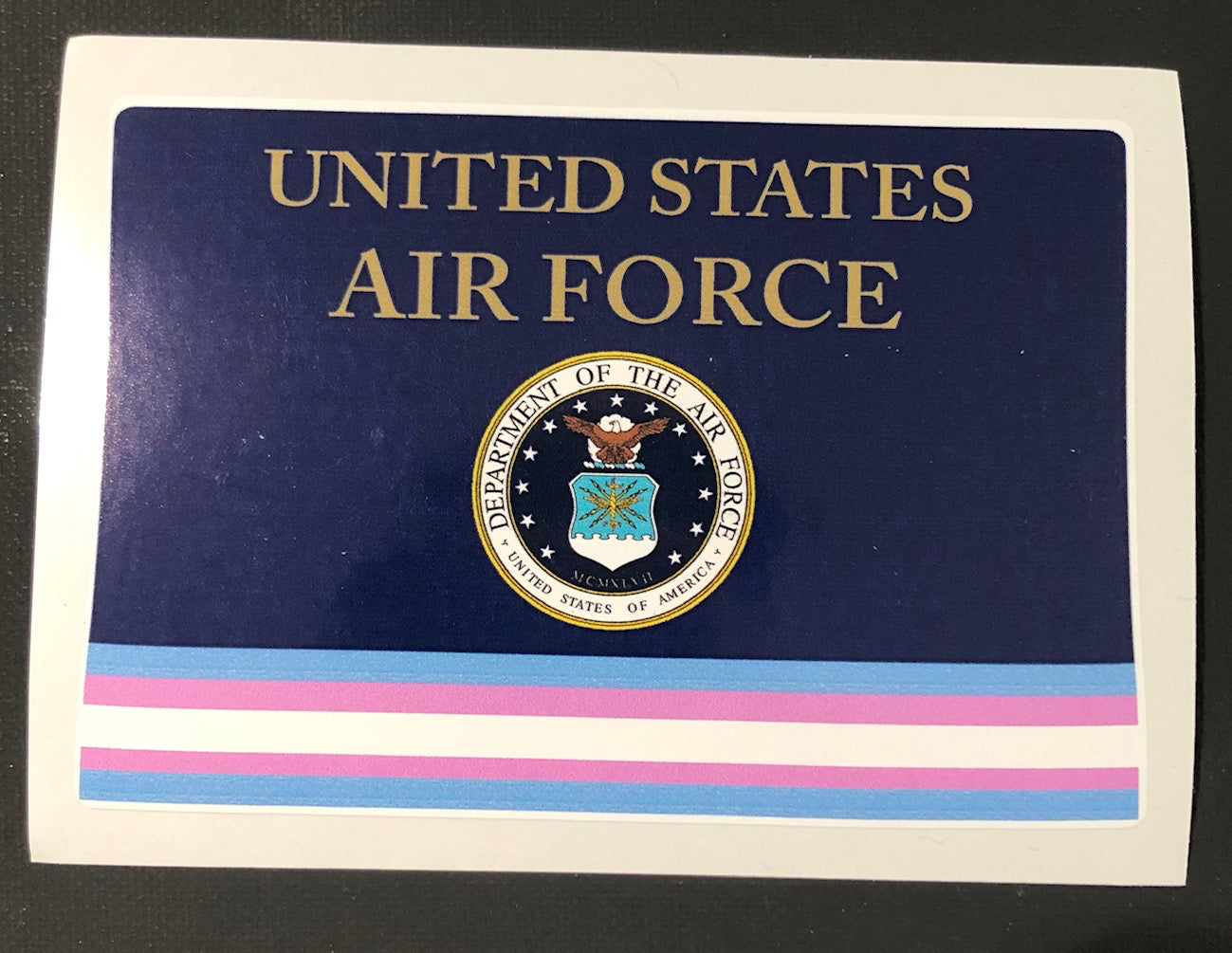 Air Force Transgender Military Bumper Sticker