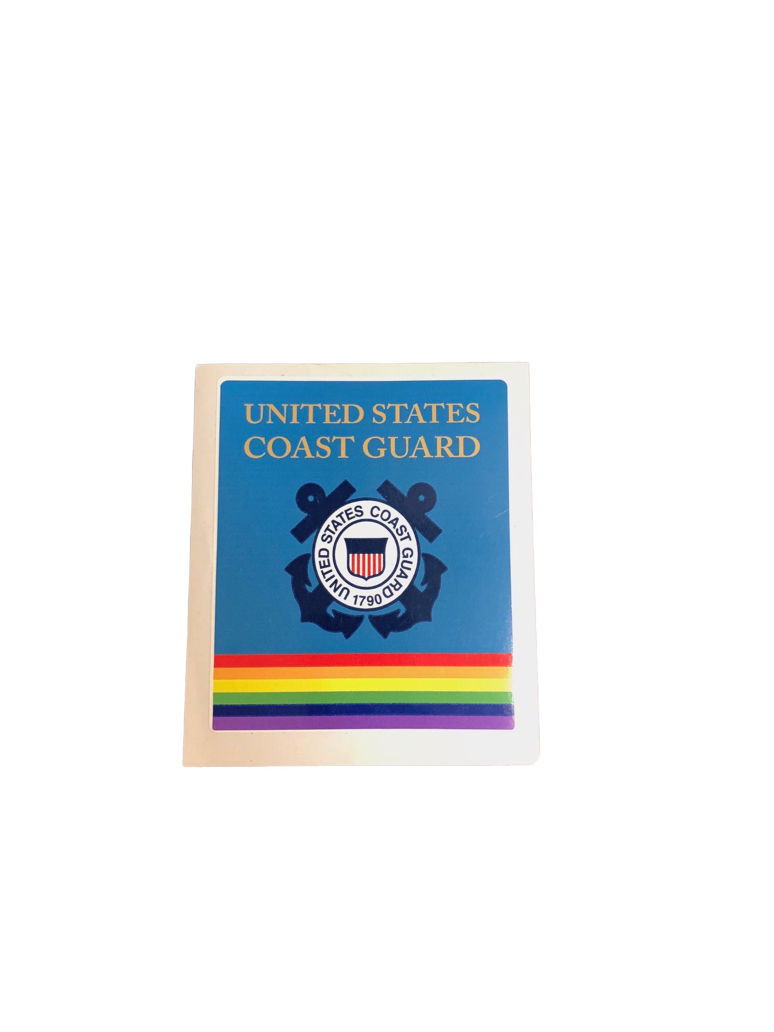 Coast Guard Rainbow Military Bumper Sticker
