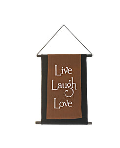 Live Laugh Love Affirmation Banner