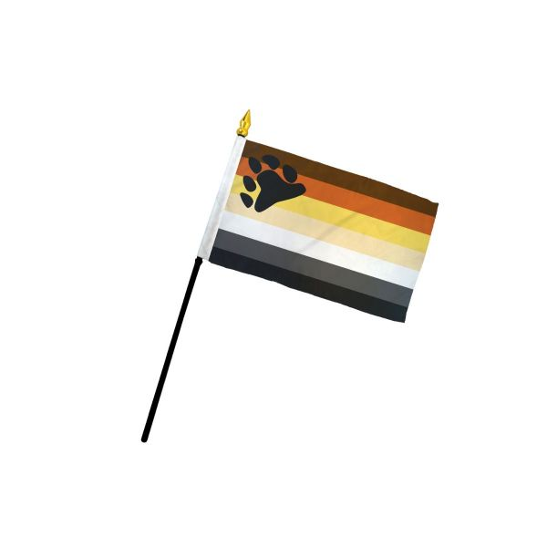 Bear Small Stick Flag 4x6 inch