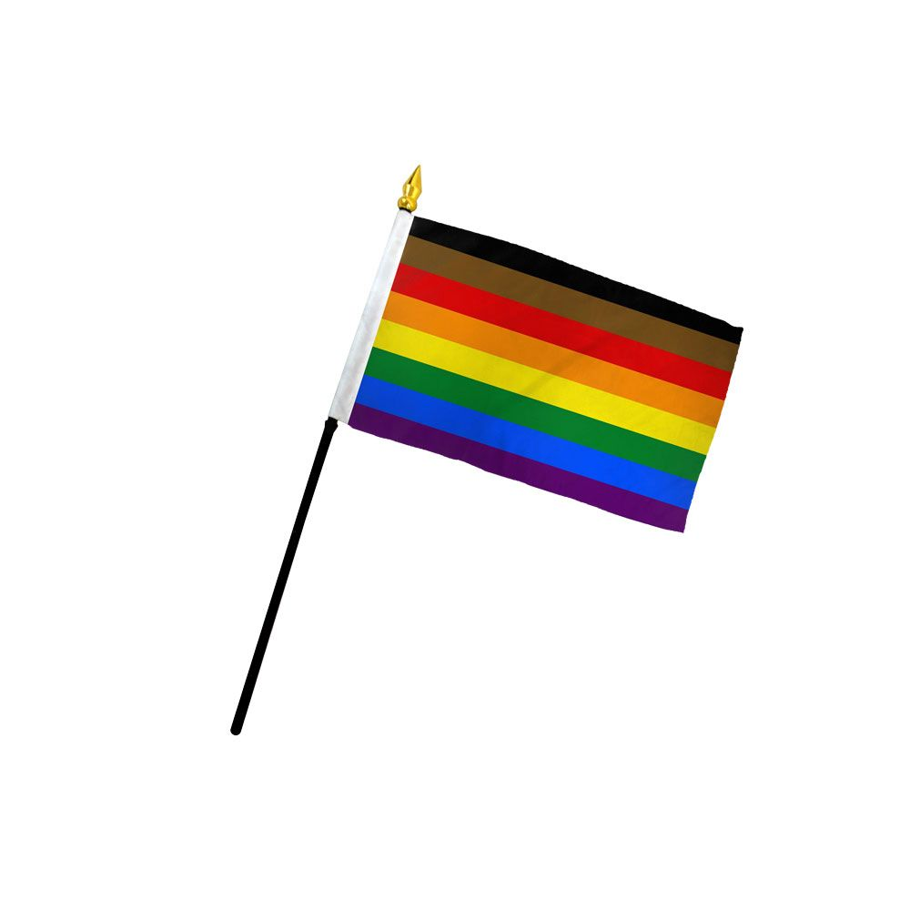 Philly Pride (All inclusive) Small Stick Flag 4x6 inch