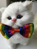 Load image into Gallery viewer, Small Rainbow Bow Tie Perfect for your Fur Babies
