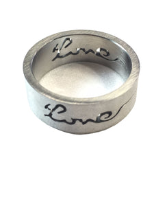 Love Stainless Steel Ring