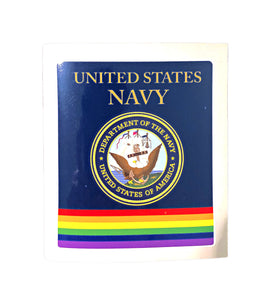 Navy Rainbow Military Bumper Sticker
