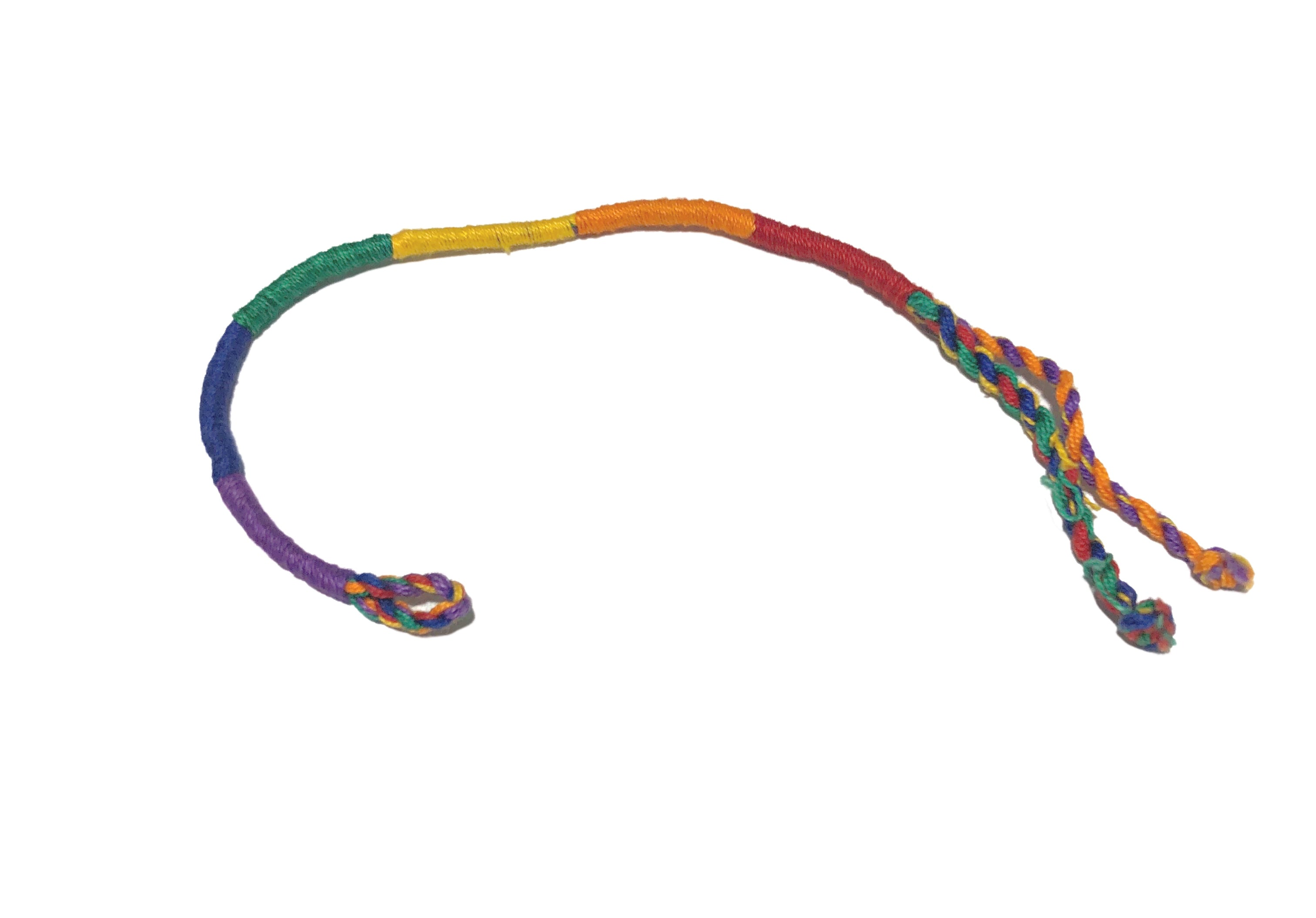 Rainbow Round Friendship Bracelet