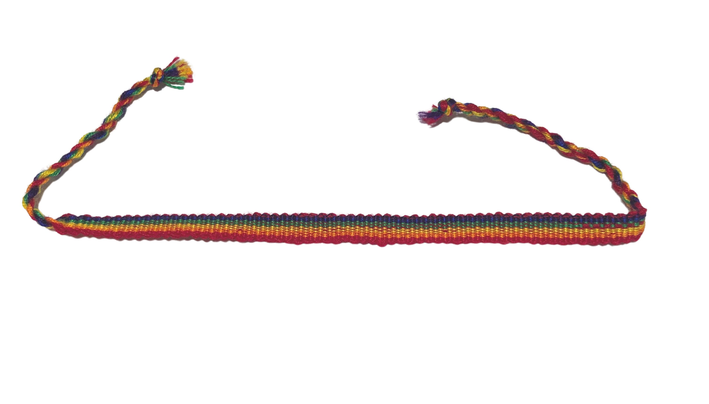 Rainbow Stripe Friendship Bracelet
