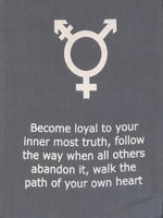 Load image into Gallery viewer, Transgender Symbol Affirmation Banner with Inspirational Quote