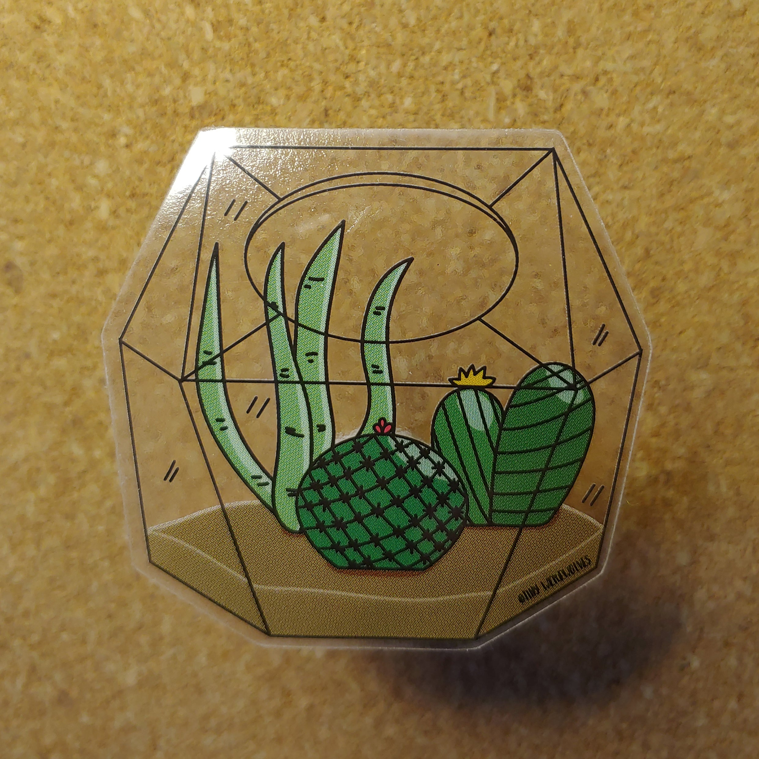 Succulent Terrarium Waterproof Clear Vinyl Stickers
