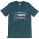 Protect Trans People Unisex Fitted T-Shirt