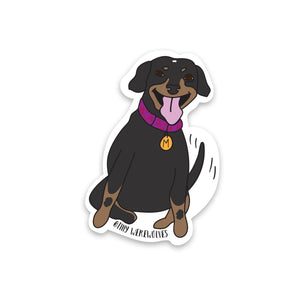 Happy Tail Meatball Sticker