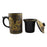Yi Xing Clay Strainer Mug With Gold Dragon (Brown)
