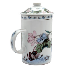 Ceramic Strainer Mug With Butterfly Design - Original Source
