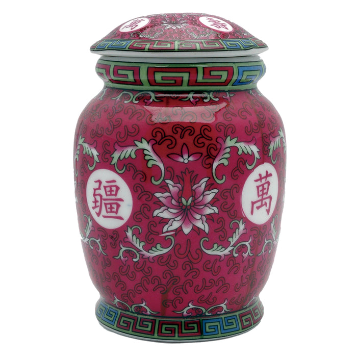 Fuchsia Ceramic Tea Canister - Original Source
