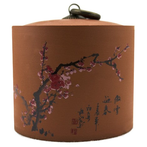 Plum Blossom Yi-Xing Clay Tea Canister - Original Source