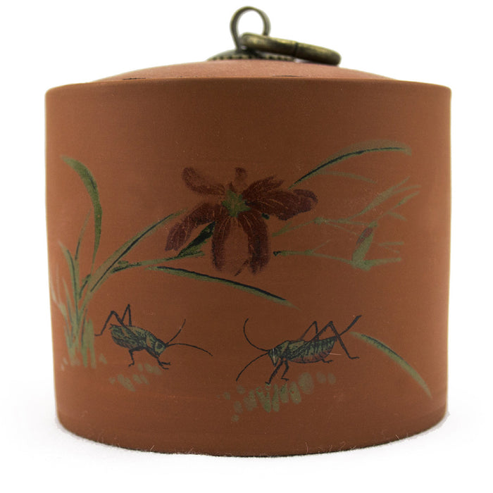 Yi-Xing Clay Tea Canister - Orchid