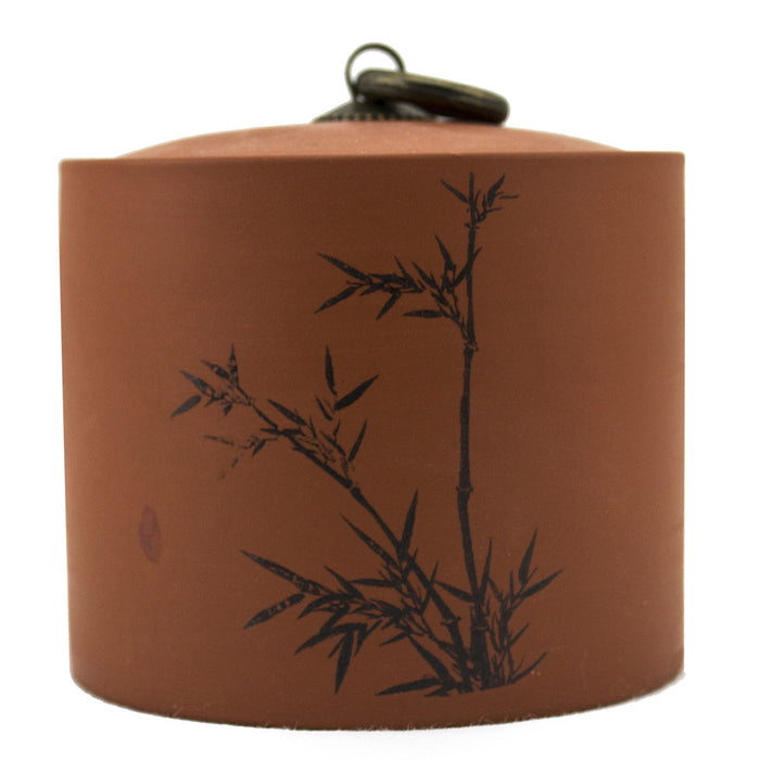 Yi-Xing Clay Tea Canister - Bamboo - Original Source