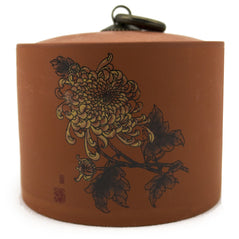 Chrysanthemum Yi-Xing Clay Tea Canister