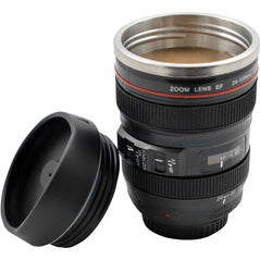 Camera Lens Mug with Stainless Steel Liner (Black) - Original Source