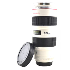 Stainless Steel Camera Lens Mug - White