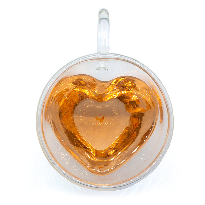 Glass Heart Mug - Double Walled - Original Source
