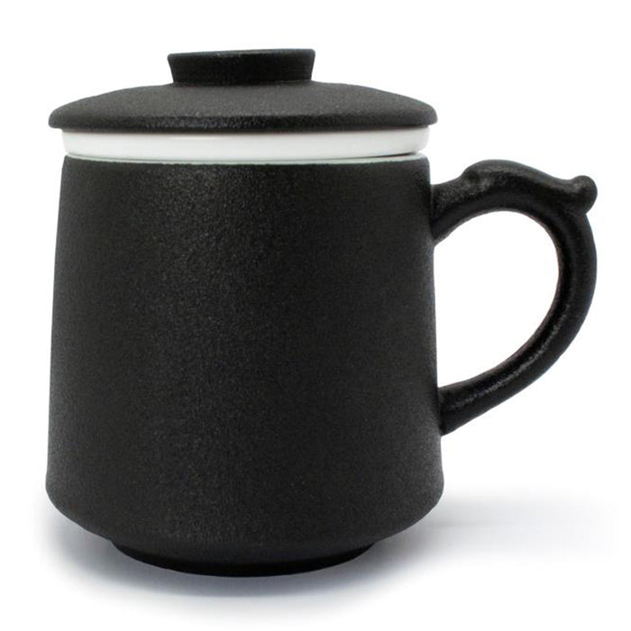 Wide Body Ceramic Mug with Strainer