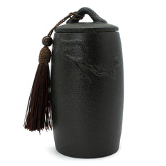 Black Embossed Ceramic Tea Canister - Original Source