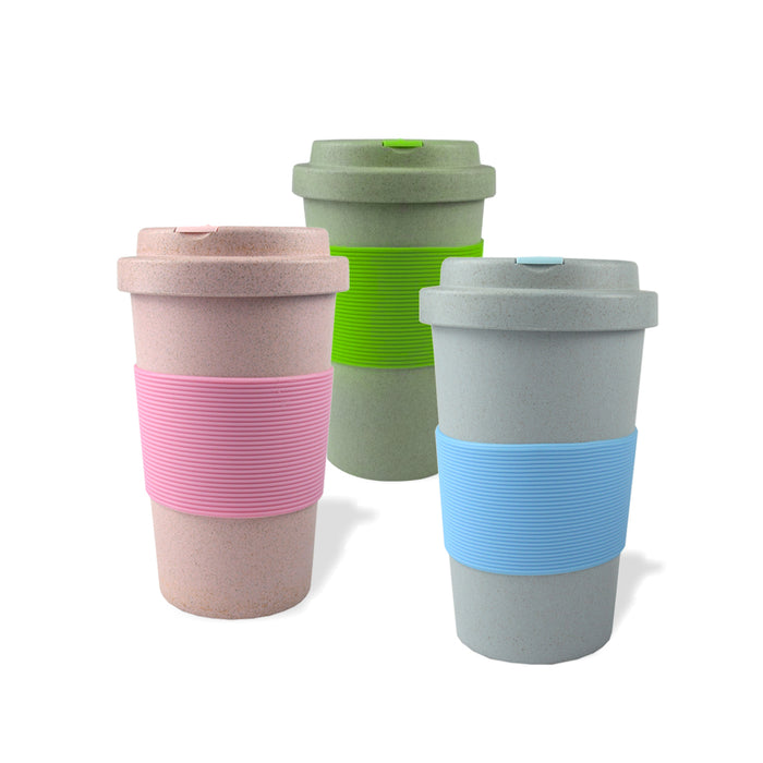 Eco-Friendly Wheat Straw Travel Cups (Pink) - Original Source